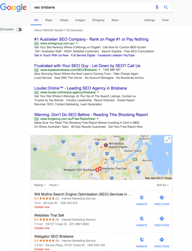 my google places listing